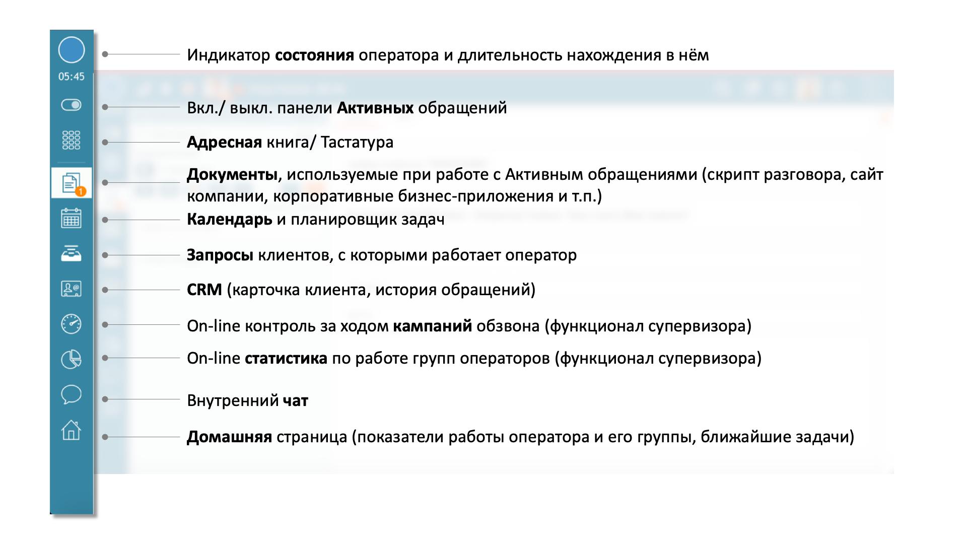 5.0 рабочее место оператора панель меню